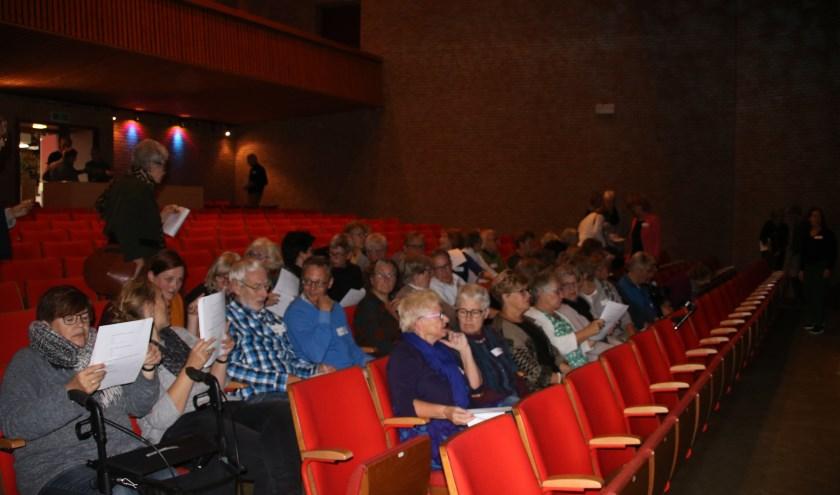 Vrijwilligers nemen plaats in de concertzaal van Boogie Woogie in het kader van de inspiratiemiddag op 11 oktober. Foto: PR