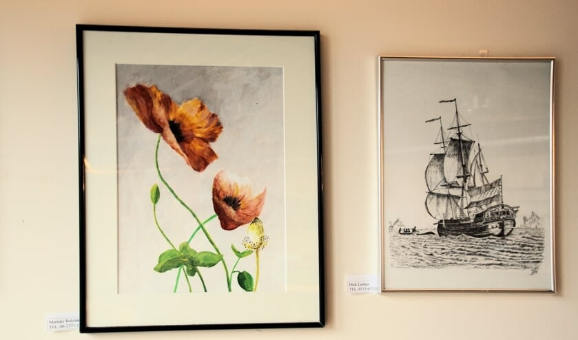 Enkele voorbeelden van schilderijen.  Foto: PR