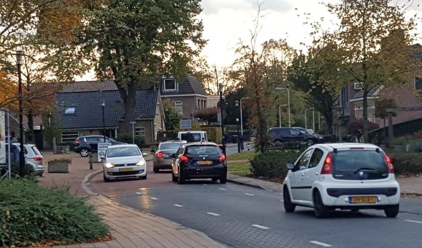 Drukte in de kern van Lievelde door de afsluiting van de N18.