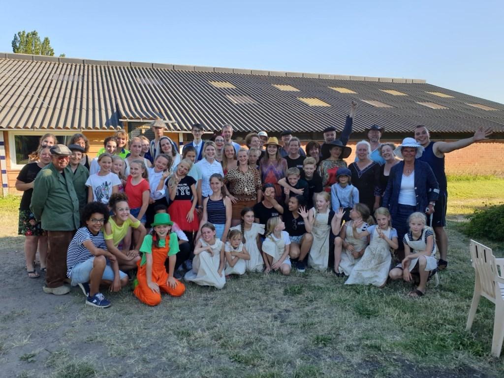 Deelnemers aan theaterproject Tiggeljong. Foto: PR  © Achterhoek Nieuws b.v.