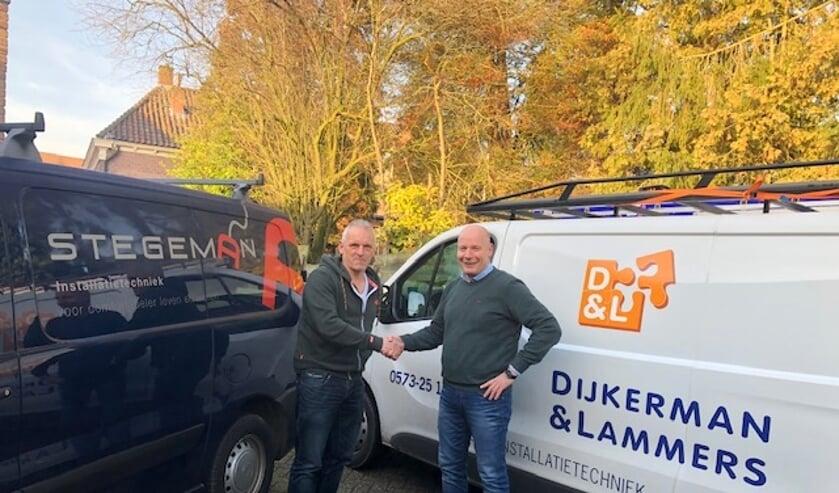 Zowel Bert Stegeman (links) als Patrick Dijkerman zijn blij met de gevonden oplossing. Foto: PR