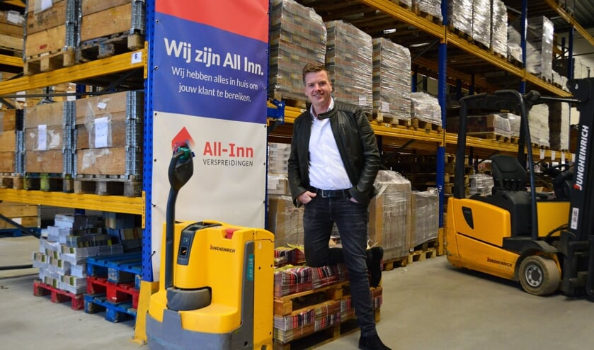 Pim Jansen, eigenaar/directeur van All-Inn Verspreidingen. Foto: Alize Hillebrink
