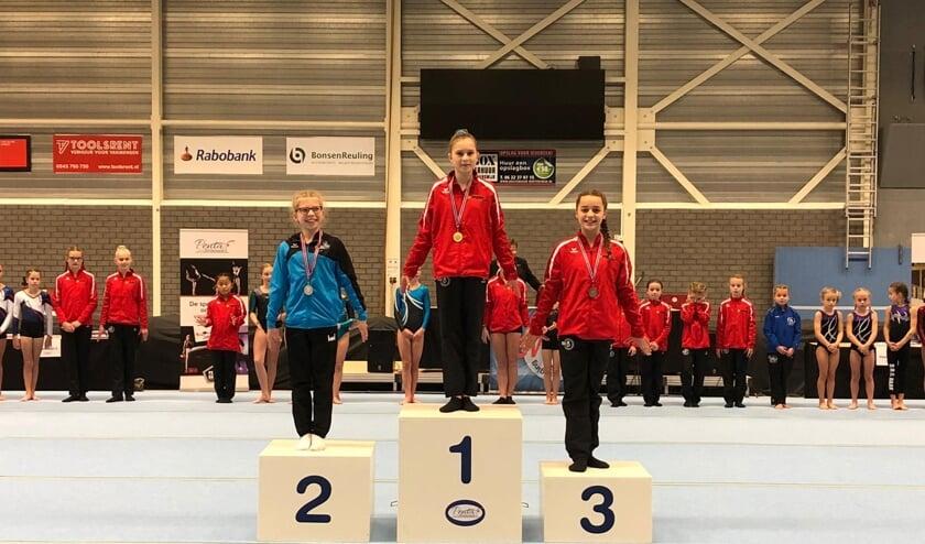 Verschillende meisjes van RGV scoorden een medaille. Foto: PR.