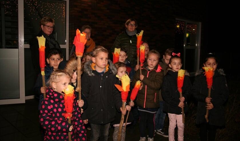 Kerstviering bij de Daltonschool. Foto: Monique van den Berg