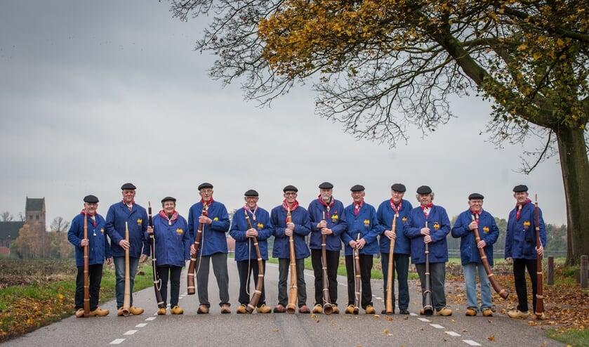 De midwinterhoornblazers uit Geesteren. Foto: PR