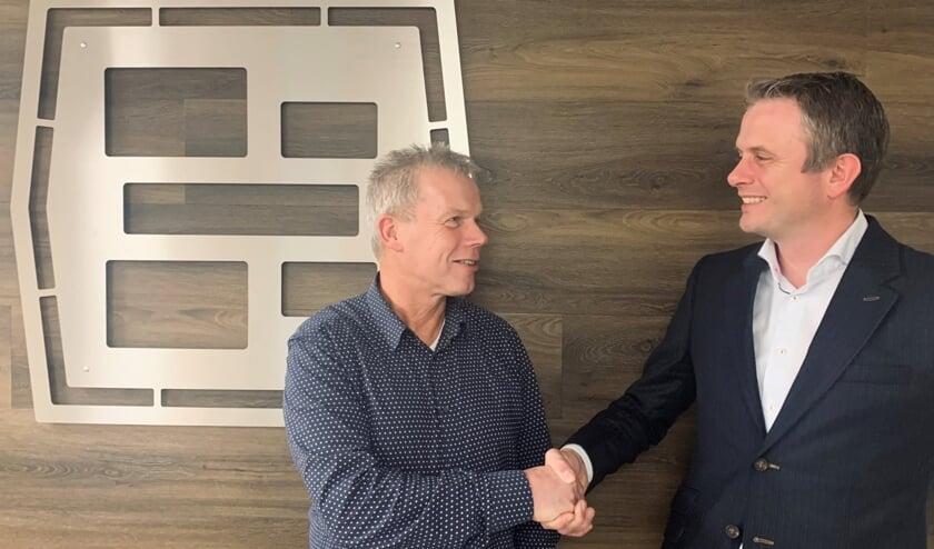 Directeur Jan te Winkel en Menko Boersma, algemeen directeur van GroeNoord. Foto: PR