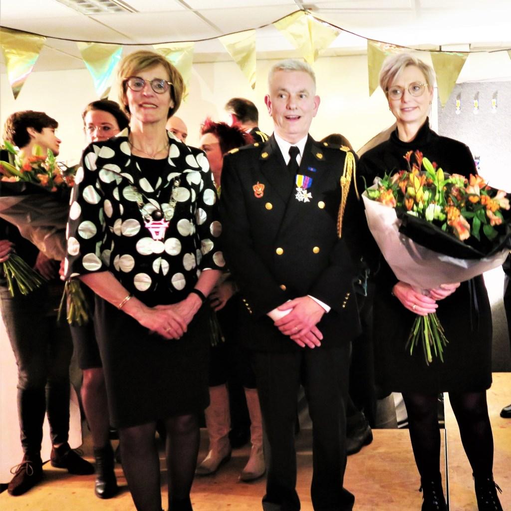 Ook Jan te Kronnie, reeds dertig jaar lid van de Brandweer, post Lichtenvoorde, werd Koninklijk Onderscheiden. Foto: Theo Huijskes  © Achterhoek Nieuws b.v.