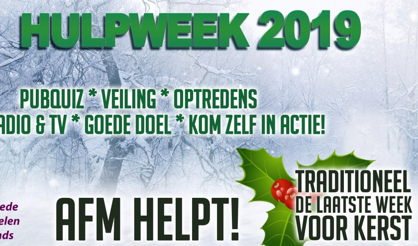 De AFM Hulp Week komt er aan. Foto: PR