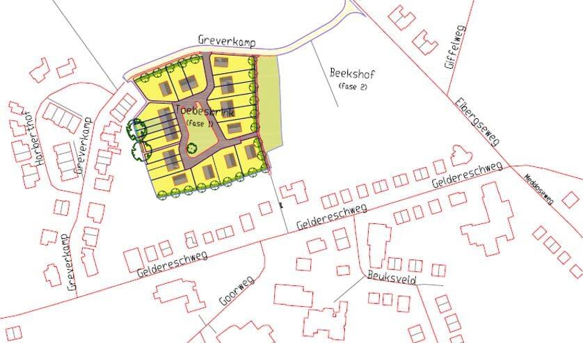 Een overzicht van de straatnamen Winterswijk-Meddo. Afbeelding PR gemeente Winterswijk