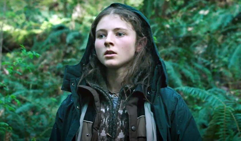 De jonge actrice Thomasin McKenzie maakt haar debuut in 'Leave no trace'. Foto: PR