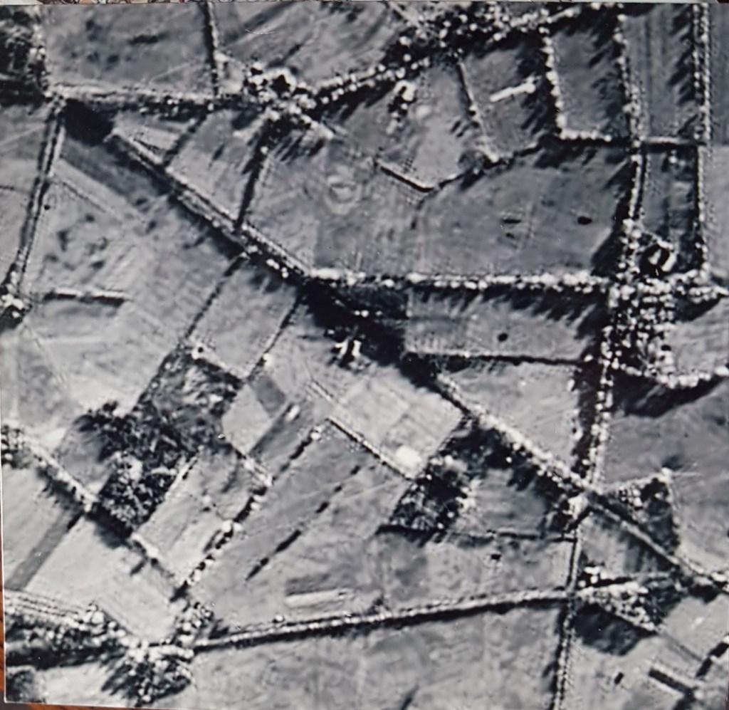 Luchtopname van de omgeving van zijn geboortehuis, in bezit van Kemink. Foto: PR  © Achterhoek Nieuws b.v.