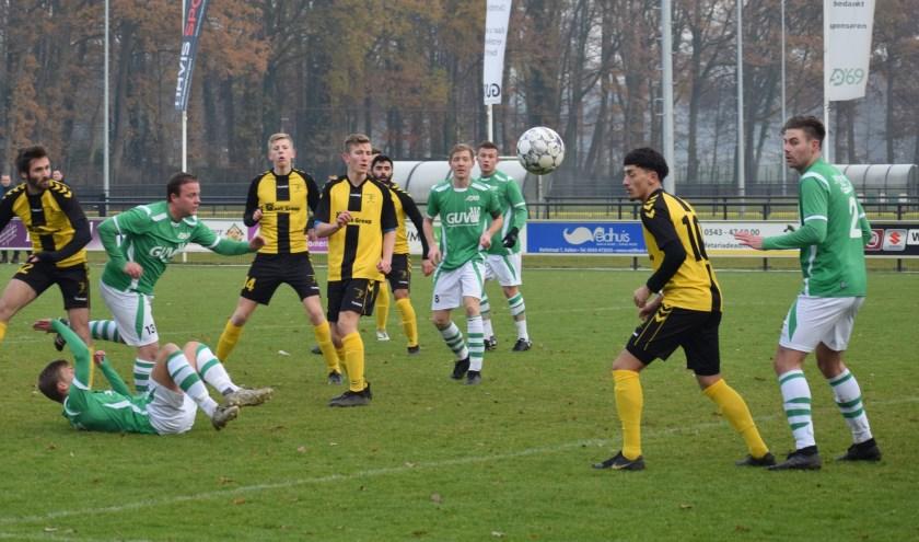 Een spelmoment uit de wedstrijd van AD'69 tegen Terborg. Foto: PR