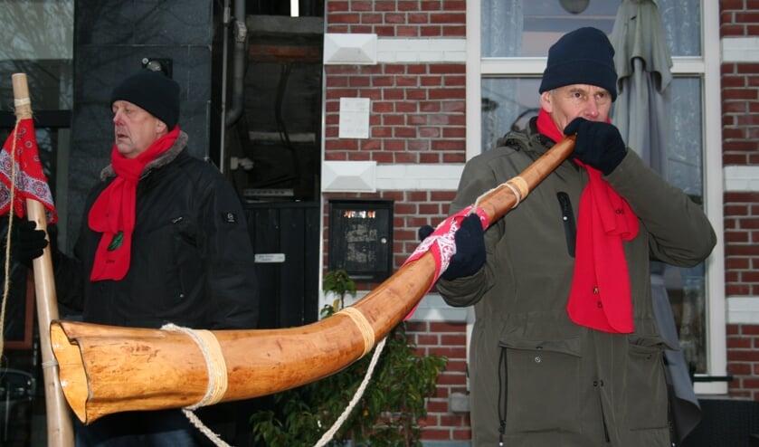Het seizoen werd geopend door de blazers uit Kotten, Meddo en Winterswijk. Foto; Verona Westera