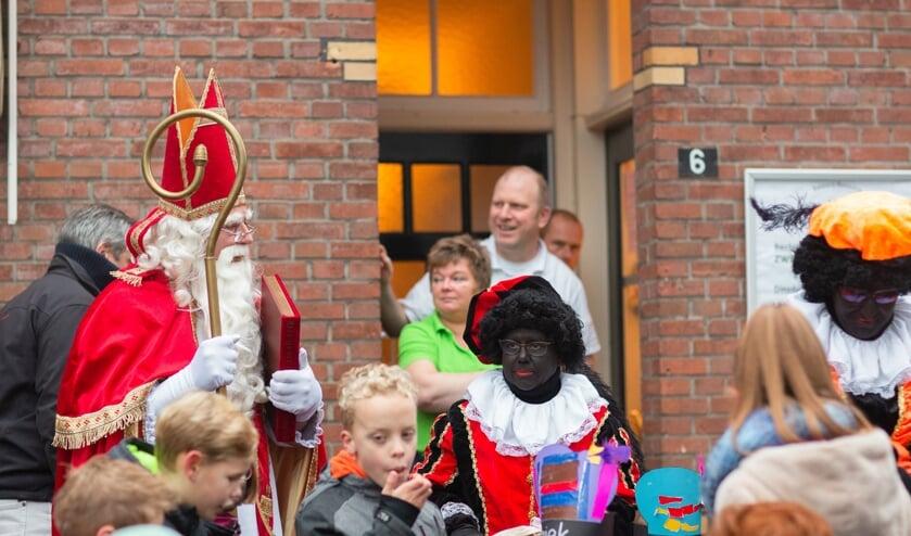 Sinterklaas kwam toch nog op bezoek bij De Garve. Foto: Josine Breukink Fotografie