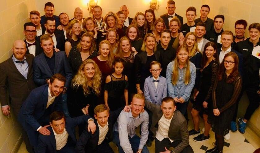 Genomineerden Sportverkiezing Zutphen 2018 met wethouder Laura Werger. Foto: Wil van der Stap