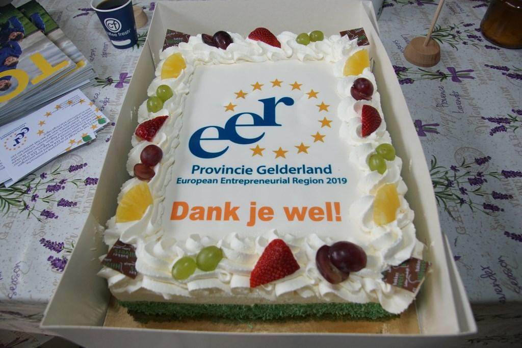 De fraaie taart. Foto: Frank Vinkenvleugel  © Achterhoek Nieuws b.v.