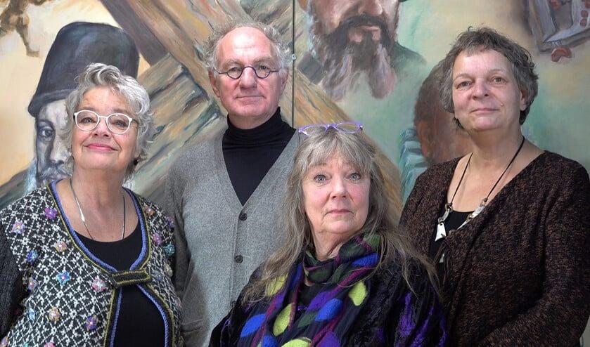 Noorder Art, van links naar rechts Marja Hens, Jan de Boer, Sieuwke Ronner en Mineke Gravers. Foto: PR