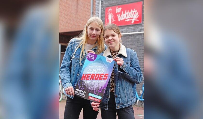 Floor Reinders en Joske Fukkink voor bar 't Doktertje. Foto: Annekée Cuppers