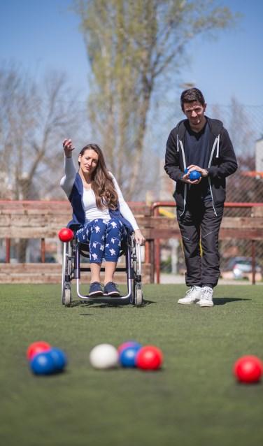 Balspel bocce is een van de sporten, die op het programma staan. Foto: