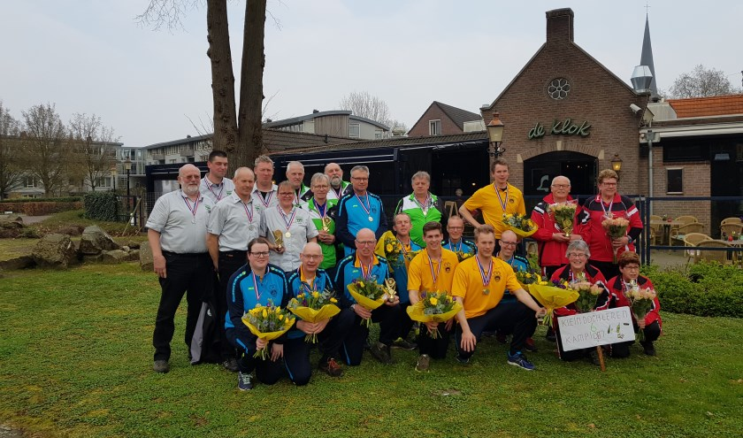 Alle kampioenen van de AKF. Foto: Mirjam ter Maat