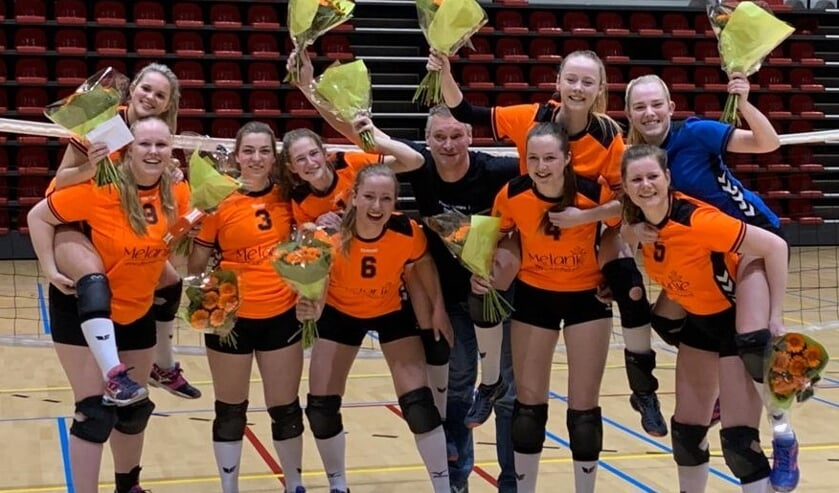 Het kampioensteam van Tornax 1 dames. Foto: PR.