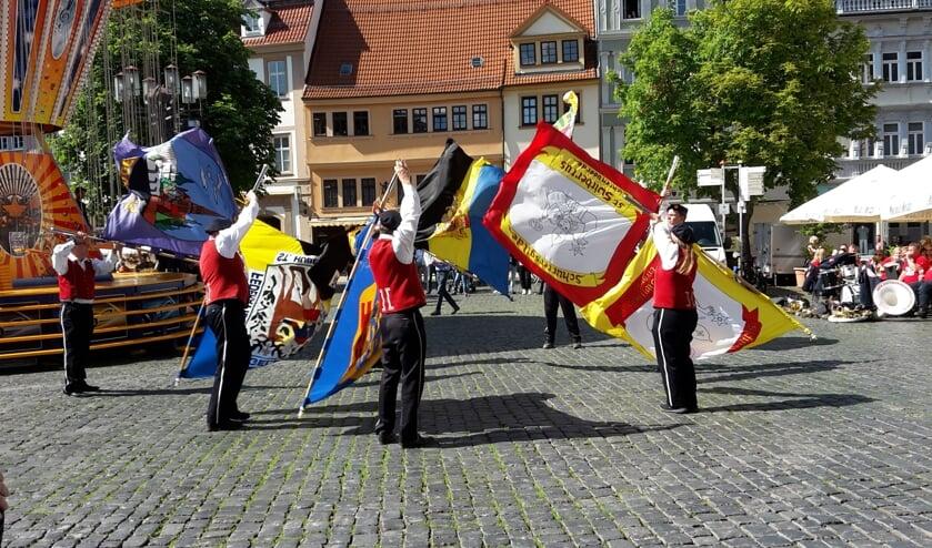 De vendeliers van Switbertus in Gotha (voormalig Oost-Duitsland). Foto: Bennie Heutinck