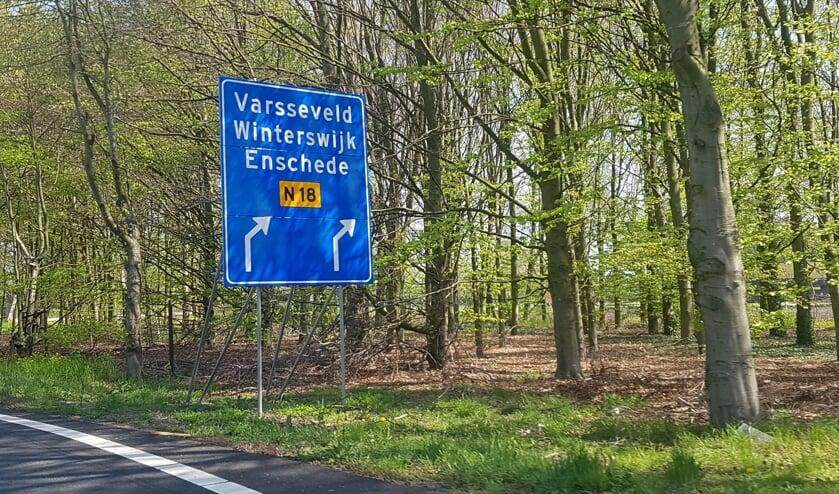 Vanaf de A18 moeten 2x2 rijbanen komen van 100 km/uur. Foto: Kyra Broshuis