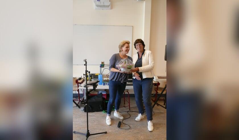 Rita Oldenhave (links) en Jannie Rexwinkel. Foto: Leo van Dam
