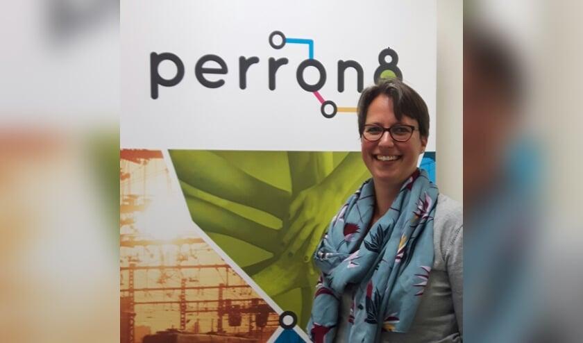 Margriet van der Veer, aanspreekpunt van Perron 8 in Berkelland. Foto: PR