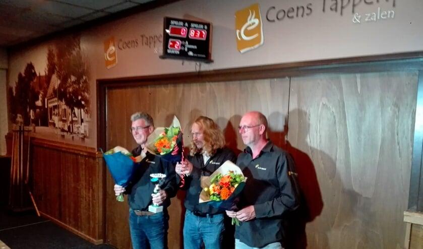 Winnaars Frans Hendriks, Marcel Bourgondiën en Alfred Bremer. Foto: Wilbert Bergervoet