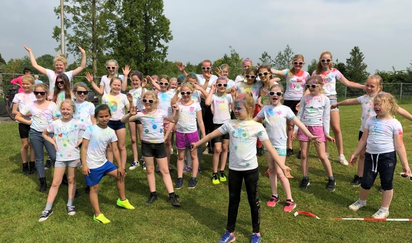 Volleybalvereniging DVO had 37 jeugdleden op kamp mee. Foto: PR