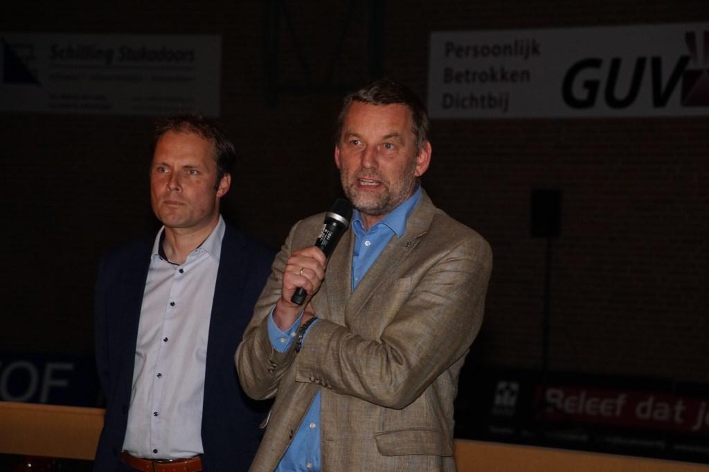 Burgemeester Stapelkamp aan het woord. Foto: Frank Vinkenvleuge  © Achterhoek Nieuws b.v.