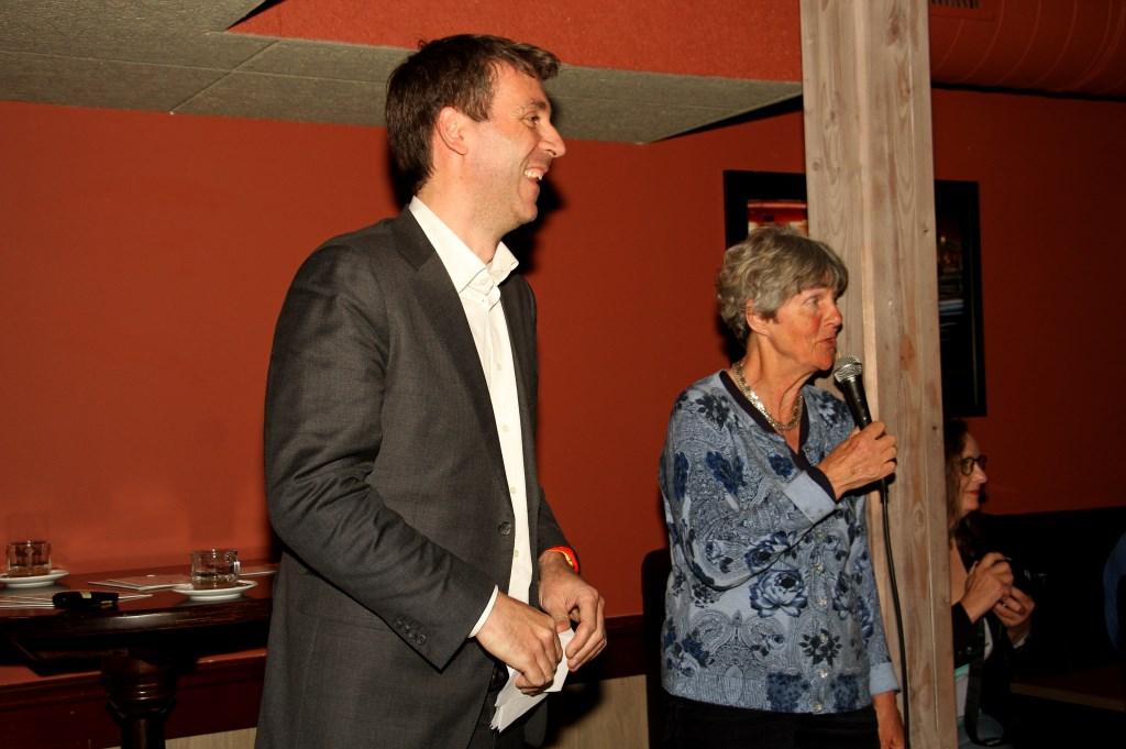Fabien Pois en Flory Poels.  Foto: Liesbeth Spaansen  © Achterhoek Nieuws b.v.