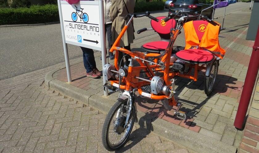 KBO Keijenborg kan voor een fietsmaatje zorgen om met de elektrische duofiets op pad te gaan. Foto: Fons Stapelbroek