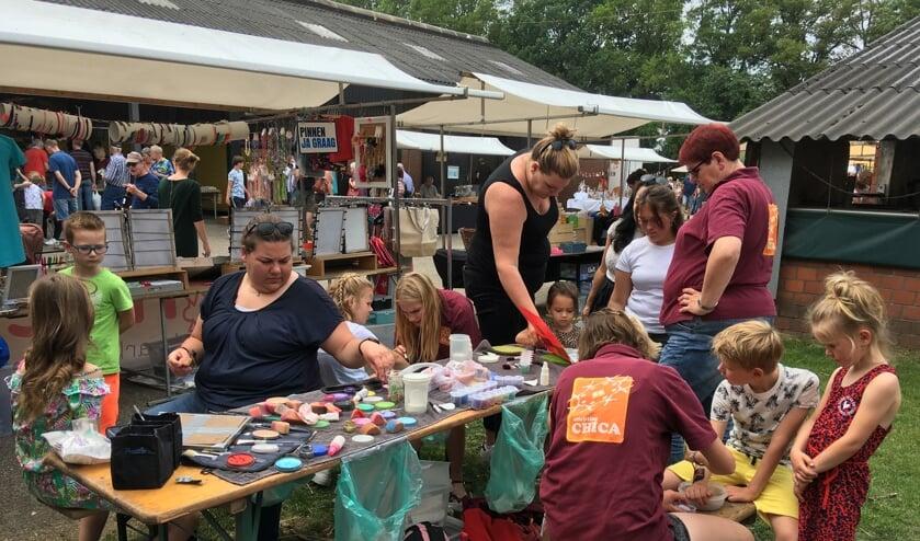 Ook kindervermaak op de Streekproductenmarkt. Foto: Barbara Pavinati