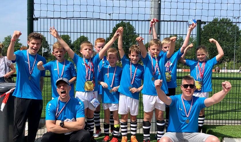 JO9-1 van soportclub Silvolde werd tweede in Apeldoorn. Foto: Gert-Jan van den Herik