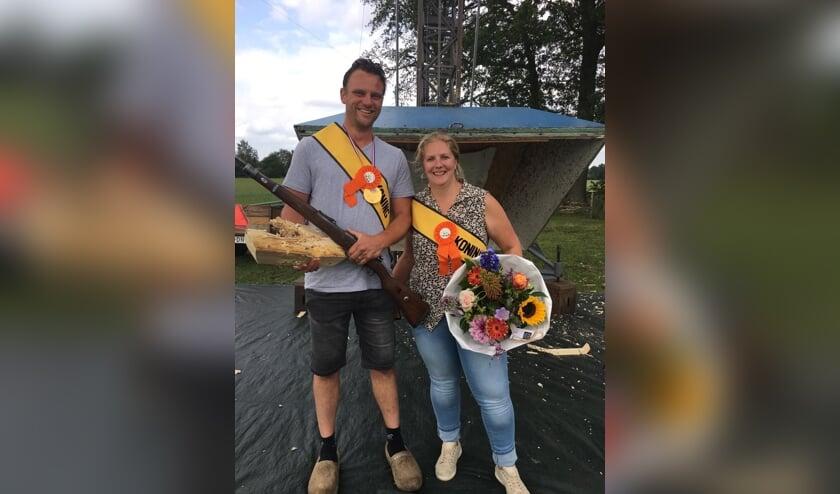 Koningspaar Rob en Anke Dijkstra. Foto: PR
