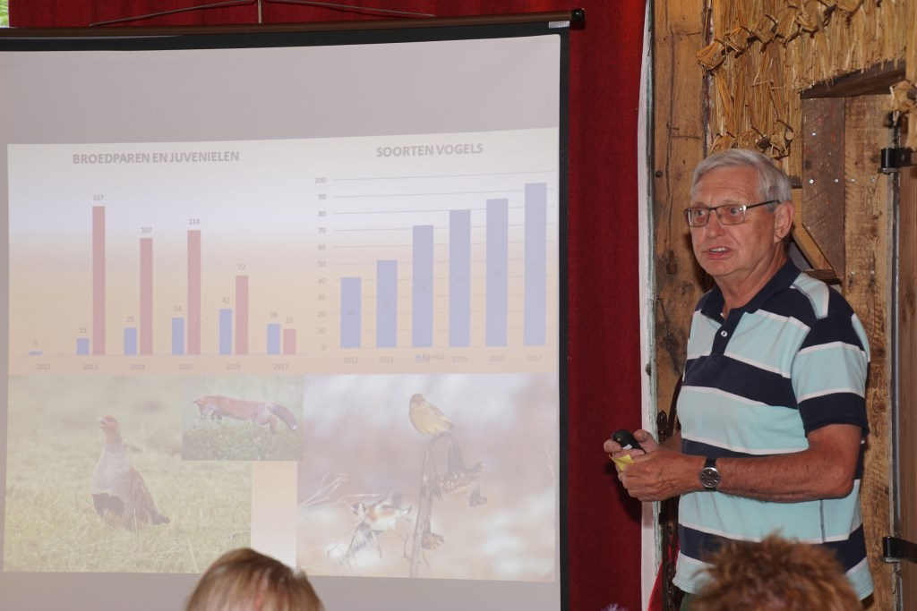 Frans ter Bogt vertelt over het project Samen voor de Patrijs. Foto: Frank Vinkenvleugel  © Achterhoek Nieuws b.v.
