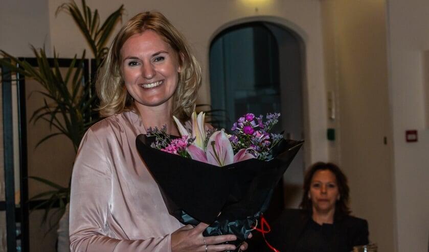 Lisa Luesink nam maandag officieel afscheid. Foto: Henk Derksen