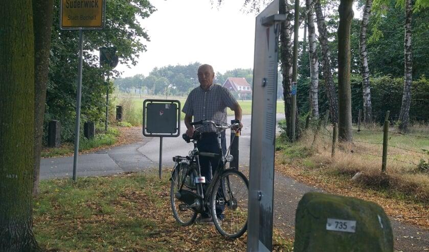 Johannes Hoven, geboren en getogen met en op de grens. Foto: Frank Vinkenvleugel