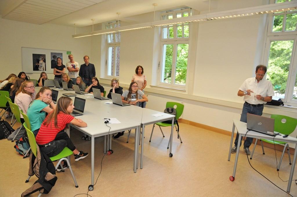 Tijdens de lessen. Foto: Bruno Wansing  Foto: Bruno Wansing © Achterhoek Nieuws b.v.