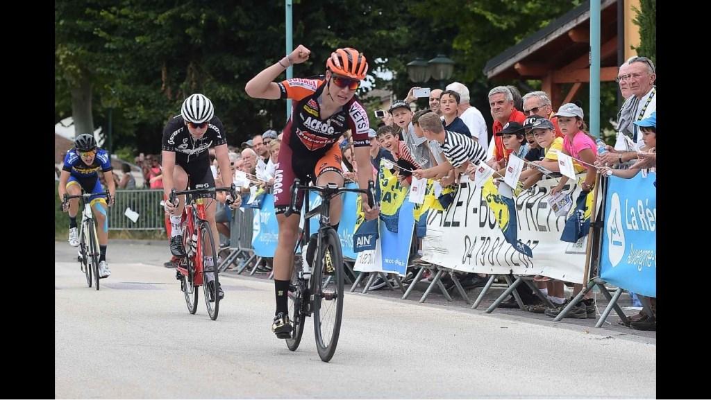 Pepijn Reinderink won de eerste etappe door de bergen. Foto; PR.  © Achterhoek Nieuws b.v.