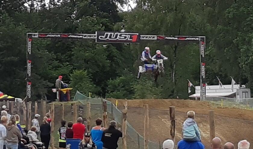 Hermans/Musset in actie op De Herikerberg in Markelo. Foto Willy Hermans