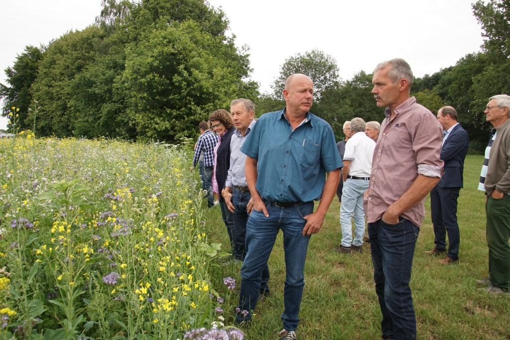 Gert Smits heeft in De Heurne op diverse percelen prei een flinke rand ingezaaid met het bloemenmengsel. Foto: Frank Vinkenvleugel  © Achterhoek Nieuws b.v.