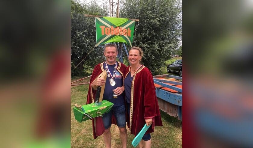 Schutterskoning Toldijk 2019 Erik Heebink en zijn koningin Liesbeth Heebink-Kets. Foto: PR