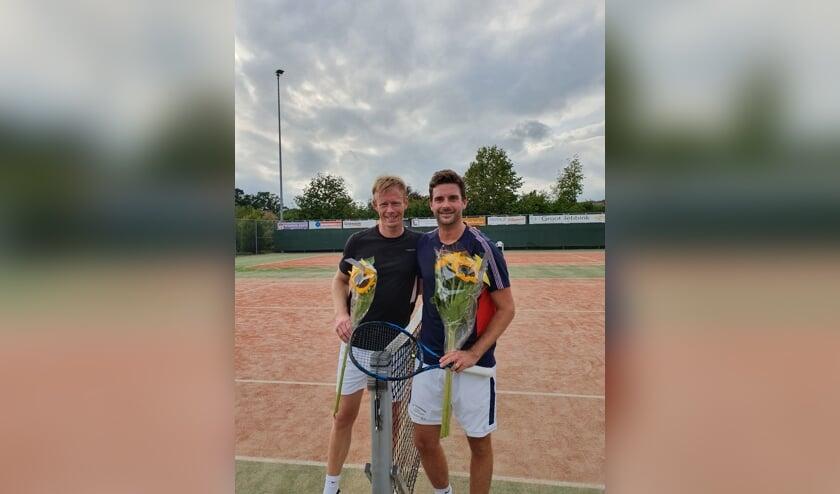 Finalisten Heren Enkel 3 rechts winnaar Bas van der Linden en links Kevin Brinke. Foto: Christiaan Brinkhorst