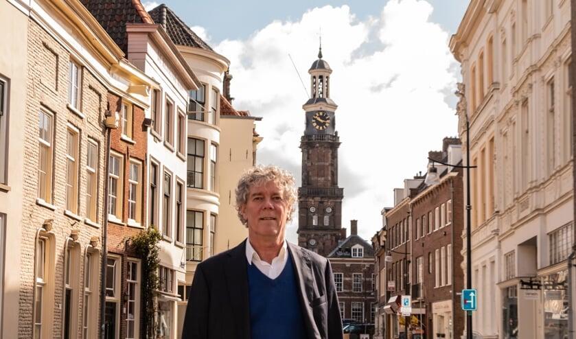 Hans Heesen kwam naar Zutphen om te schrijven. Foto: Henk Derksen