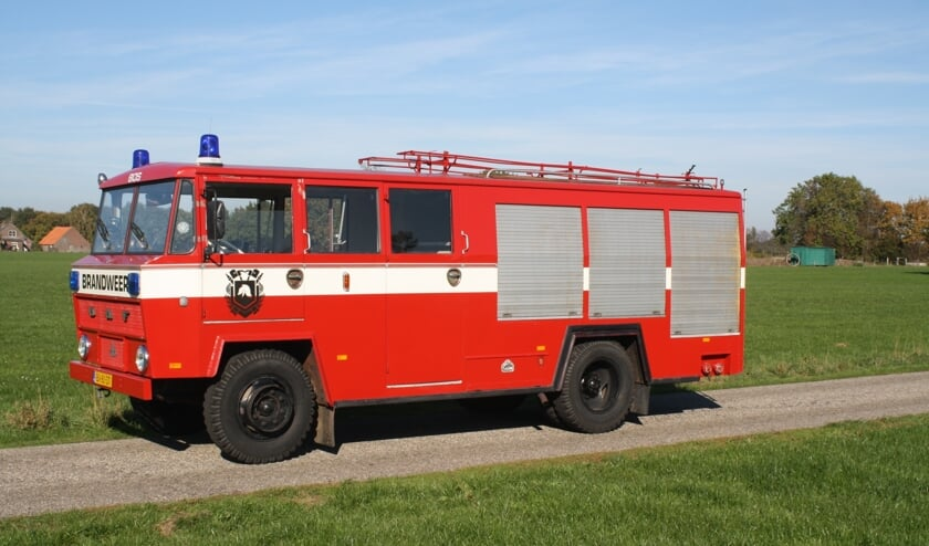 Een oldtimer DAF brandweerwagen, type DAF A1300 BA360 uit 1971. Foto: PR