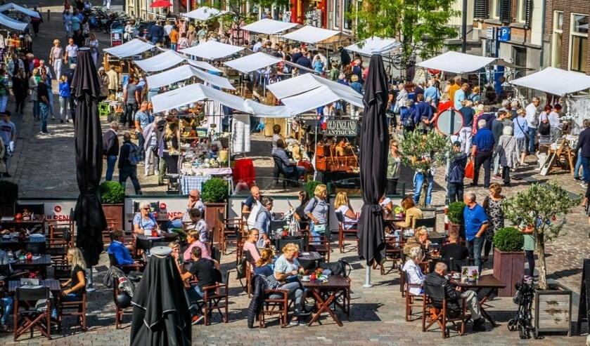 Kramen vol brocante in centrum Zutphen. Foto: PR