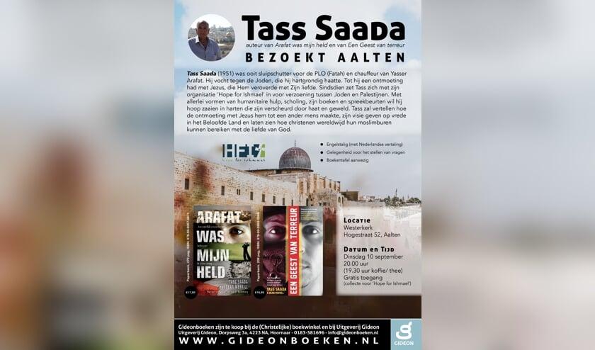 Tass Saada komt naar Aalten op 10 september. Foto: PR